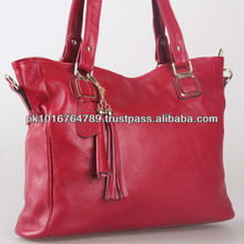 100% Genuine Leather Handbags, Color Red, Latest Styles 2014