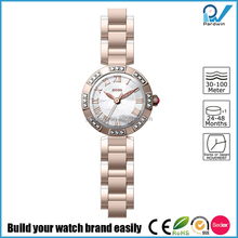 Japan Miyota 2035 movement ladies bracelet japan movt diamond stainless steel back quartz bangle watches