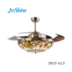 42'' remote control hotel and bedroom LED light rotating ceiling fan with retractable blades