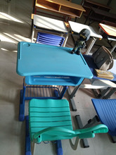 High quality new design plastic used kids school single desk and chair