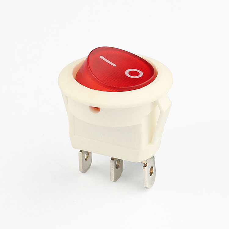 Red illulinated 3 position selector on-off rocker switch