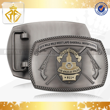 Zinc Alloy Belt Buckle with Badge Center