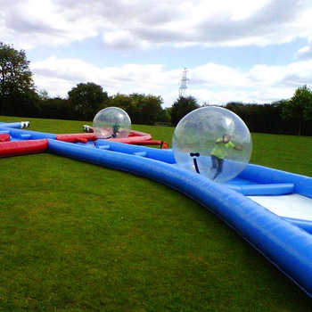 2018 Latest Product Rolling Zorb Ball Lane/Running Water Ball Race Track with Barrier and Obstacle