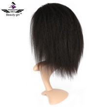 Top quality kinky straight ponytail 130% density full lace wig sew in wig sewing machine