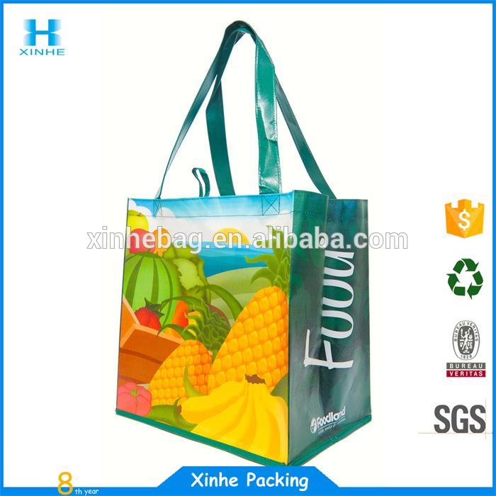 Fancy Christmas laminated non woven bag with opp film
