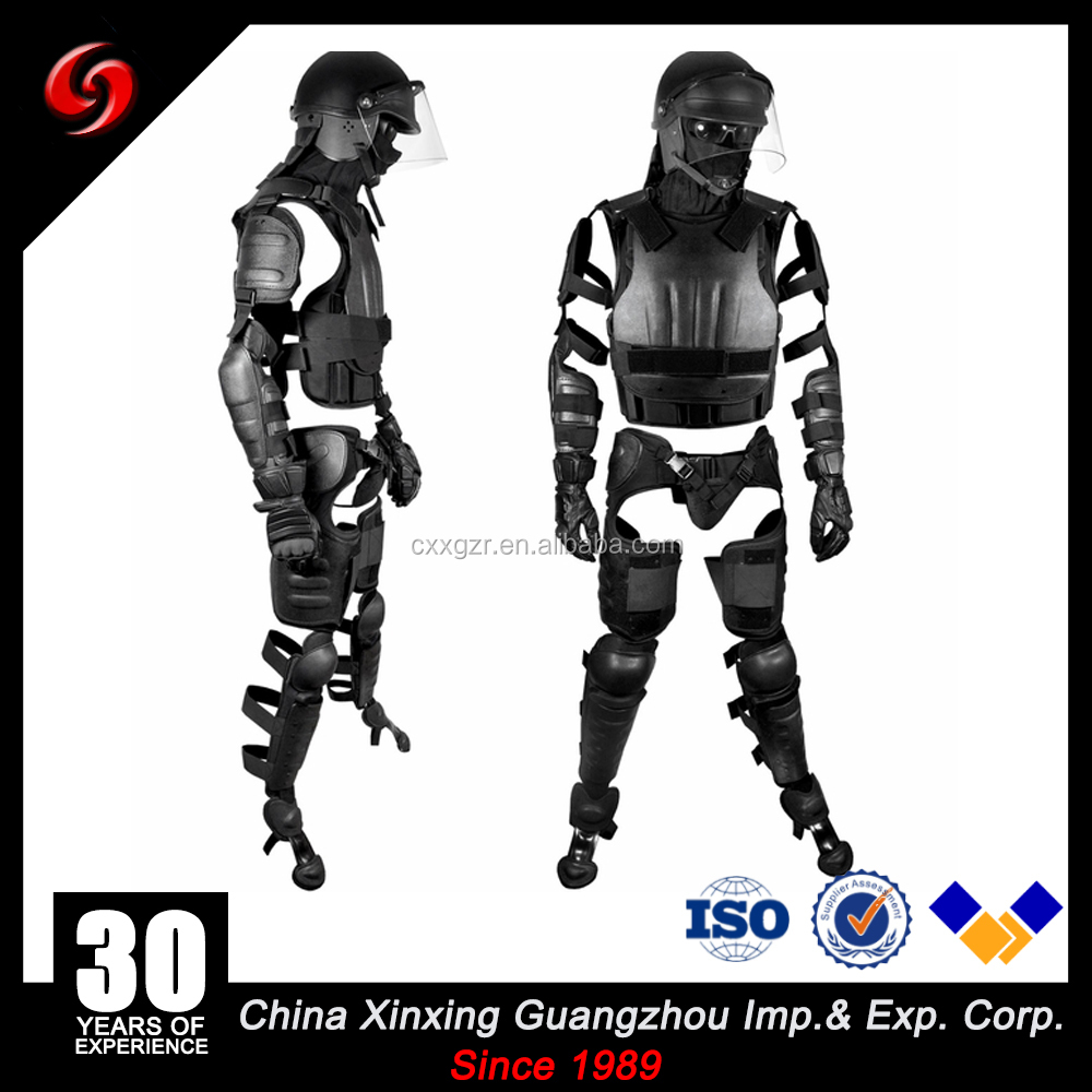 wholesale strong ABS anti-riot suite/ anti-riot gear 165-190cm tall sibstain 120J law enforcement