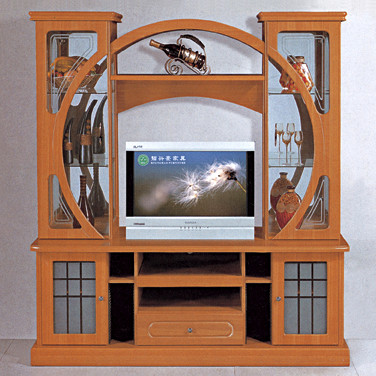 India Style Tv Cabinet With Showcase 805 Led Wall Unit
