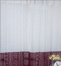 BAOLONG china factory direct sale classic home german red lace curtains