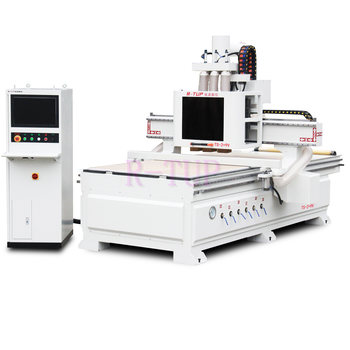 TS-2+9V 6kw*2 spindle 9v vertical drilling machine cnc router 1325 woodworking machinery