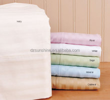 100% cotton 60*40 173*120 300TC 300 thread count stripe fabric for hotel bed sheet bedding sheets