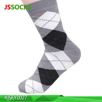 man dress socks men sock with white and black prismatic printing