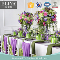 ELIYA Cheap Luxury Hotel Table Cloth Purple Wedding Table Cloth and Chair Covers