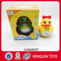 baby toy mini plastic duck tumbler with light and music