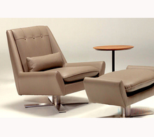 Swival leather chair / rotation chaise lounge / turning round chair CC-LC189#