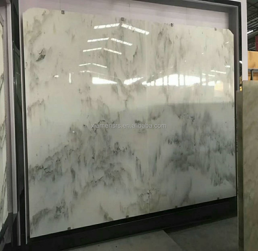 Beautiful landscape painting marble slabs like mountain and rivers