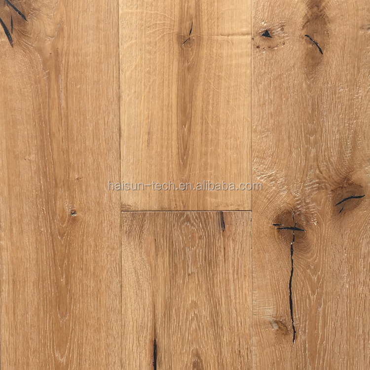 Handscraped Brushed European Oak Flooring Wood Flooring
