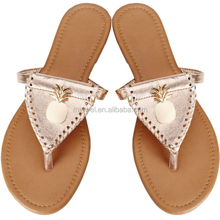 New design baseball women hollowed sandal