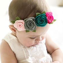 Factory Directly Sale Fashion Little Girls Floral <strong>Hair</strong> <strong>Accessories</strong>/Newborn Headband/Headwrap Toddler
