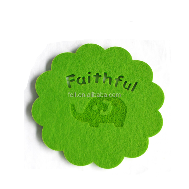 High Quality Factory Direct Wholesale Customized Felt Glass Coaster