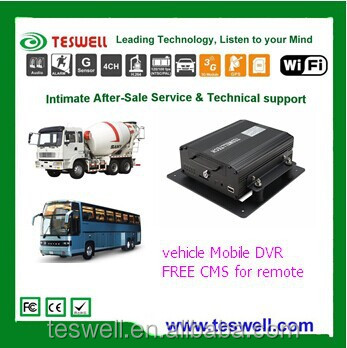 teswelltech 4ch full D1 car black box dvr Support PTZ control teswell for school bus mobile DVR