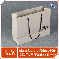 Promotional decorative white kraft paper grocery bags