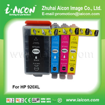 For hp printer ink cartridge 920XL 975AA 972AA 973AA 974AA