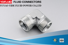 Hydraulic pipe fitting 90 degrees elbow BSPP male 60 degrees seat/ BSPP female 60 degrees cone