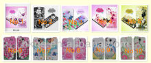For blu studio 5.5 s d630u nice flower butterfly printing leather case