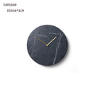 Black galaxy marble clock with copper pointers tabletop clock