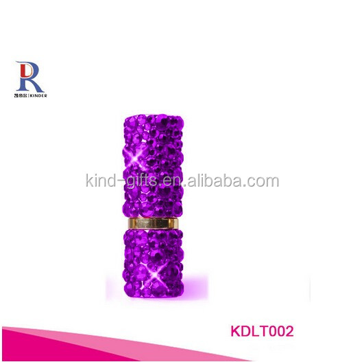 rhinestone bling bling crystal lip gloss tube