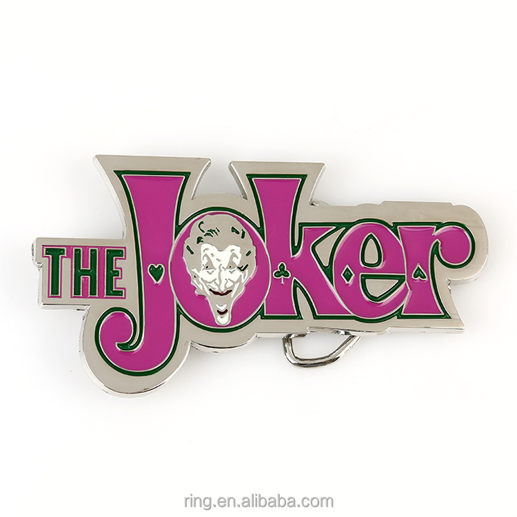 women belt buckle metal cowboy designer THE JOKER pink logo DIY fashion belt buckle