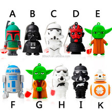 promotional Chrismas gift original design character shape pvc customized usb flash memory , Paypal/Escrow accept