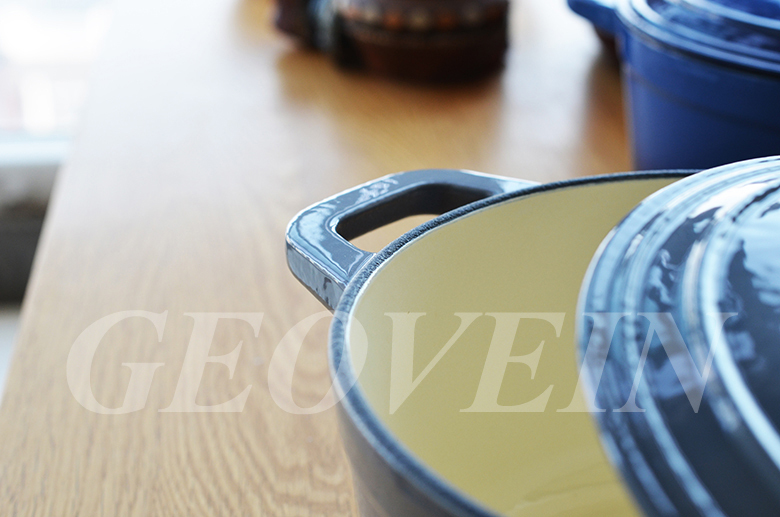 High quality household cast iron cookware with enamel