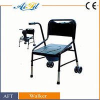 Economy disabled folded Knee orthopedic walker with chair