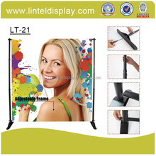 Tension fabric system display rack for trade show