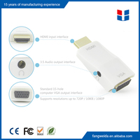 1080p hdmi male to vga female adapter converter with audio
