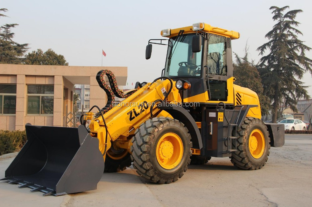 2 ton loading front loader with telescopic boom