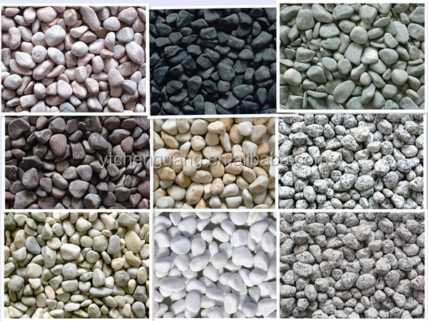 Mix natural landscaping colored crushed stone