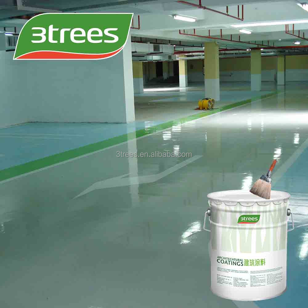 3TREES Epoxy resin high build epoxy floor coating for parkinglot