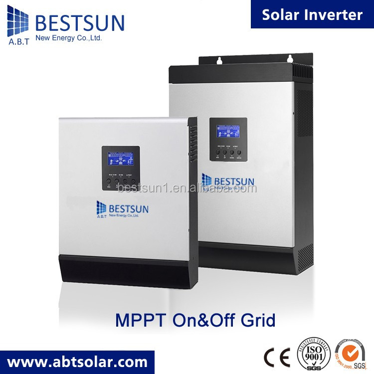 Bestsun 2017 New Design High Frequency Mppt Solar Hybrid Inverter 4KVA / 48V To 230V Mppt Solar Hybrid Inverter With Battery Bac