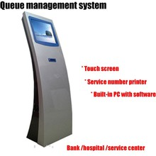China Intelligent Queue Management System/ Touch Kiosk/ Queue Machine With Samsung Tft Lcd Display