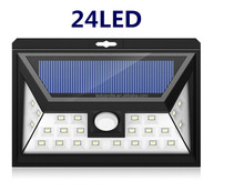 24LED wall mounted motion sensor outdoor led solar light , solar wall light , led solar lamp