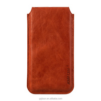 Jisoncase sleeve case cover for iPhone 6/6S plus genuine leather pouch Vintage in Red for iPhone 6/6S plus