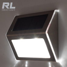 Outdoor Waterproof 2 LED Rechargeable Solar Power PIR Motion Sensor Wall Light for Garden