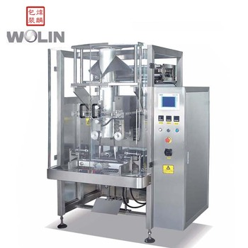 Automatic VFFS vertical form fill seal packaging machine packing for puffy food snack nuts with 3side bags back seal bags