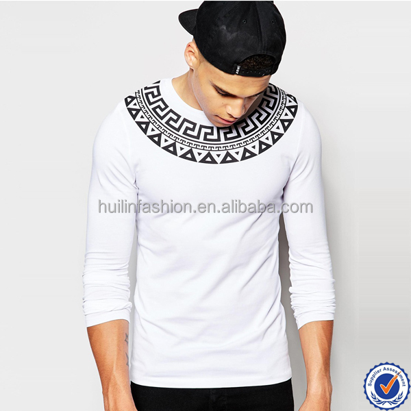 man clothing online shopping india crew neck printed yoke mens plain t-shirt