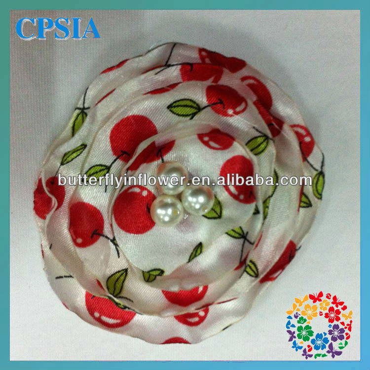 "stocking flowers designs decoration flower 2.4""new handmade hair flower"