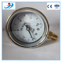 Y60-QG310 stainless steel case and brass internals high accuracy pressure gauge