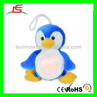 D960 Cuddly Plush Penguin Night Light LED Key Chain