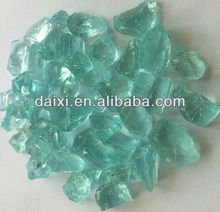 Colored decoration glass rocks for garden
